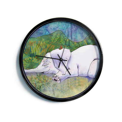 "Catherine Holcombe ""Ernie's Dream""  Modern Wall Clock"