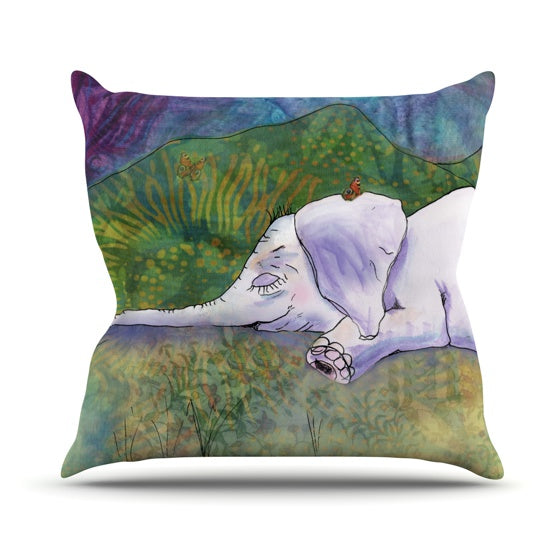 "Catherine Holcombe ""Ernie's Dream"" Throw Pillow - KESS InHouse  - 1"