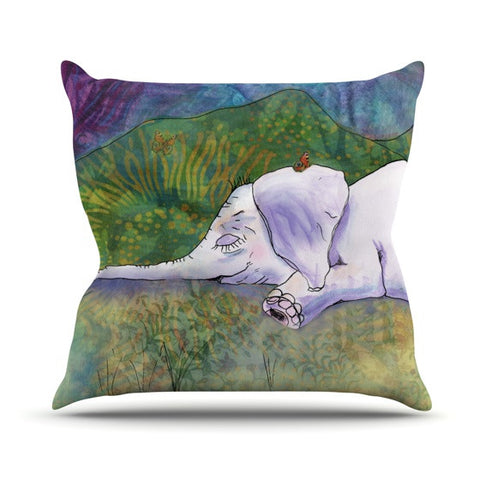 "Catherine Holcombe ""Ernie's Dream"" Outdoor Throw Pillow - KESS InHouse  - 1"
