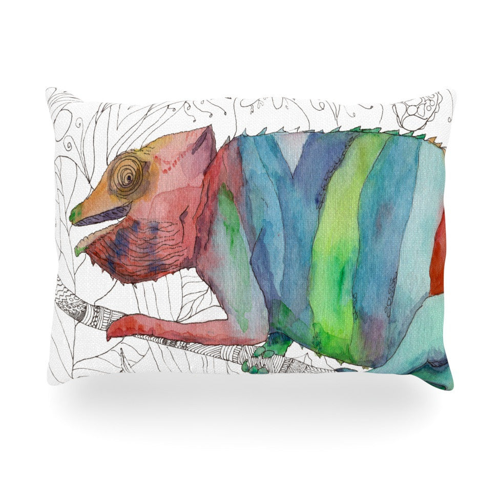 "Catherine Holcombe ""Chameleon Fail"" Oblong Pillow - KESS InHouse"