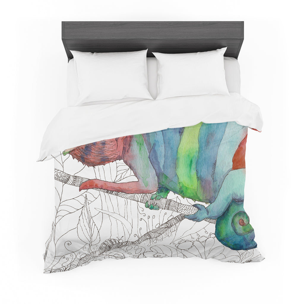 "Catherine Holcombe ""Chameleon Fail"" Cotton Duvet"