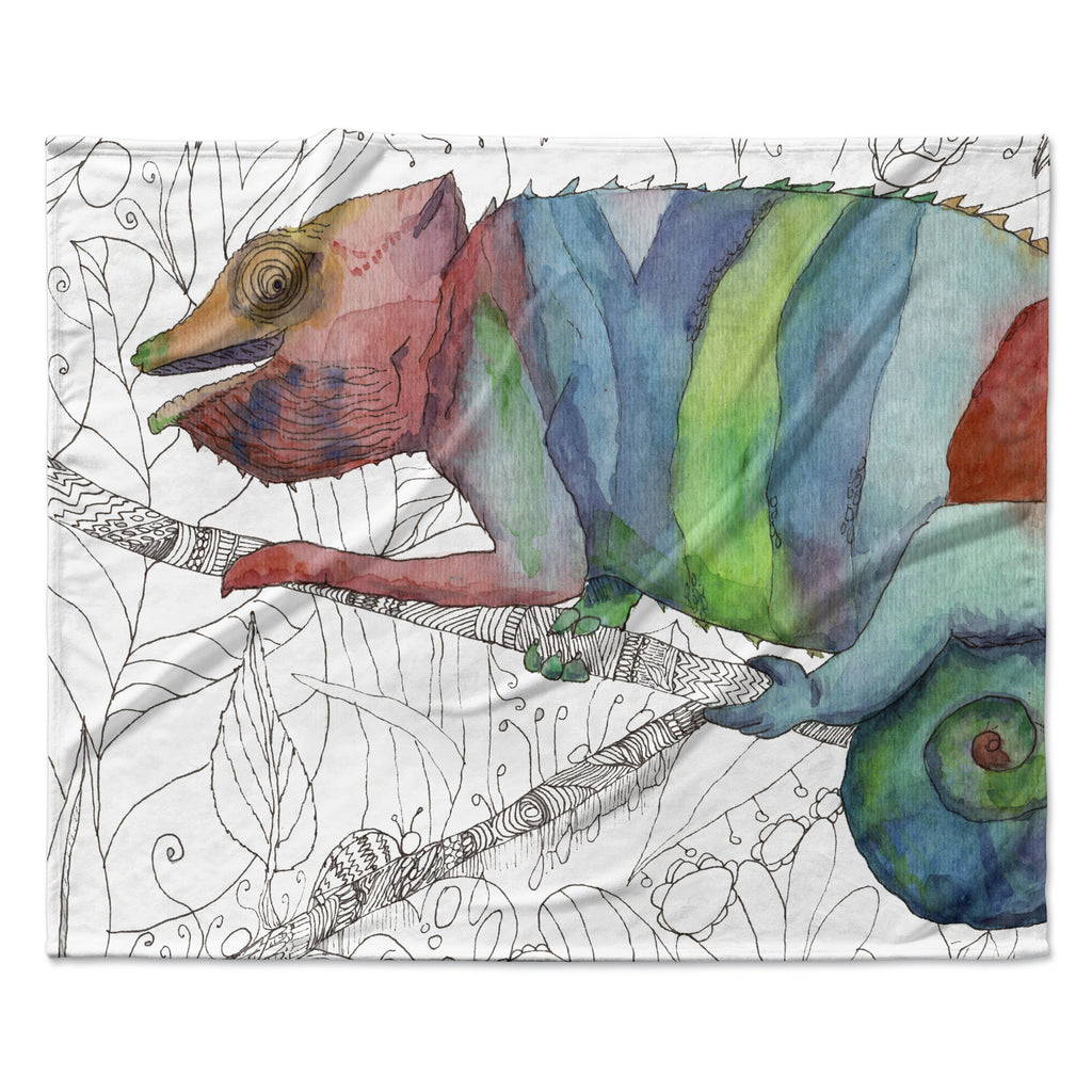 "Catherine Holcombe ""Chameleon Fail""  Fleece Throw Blanket"