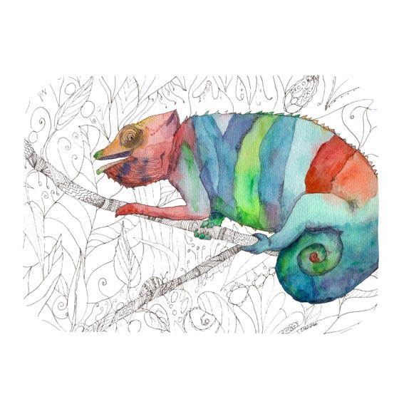 "Catherine Holcombe ""Chameleon Fail"" Place Mat - KESS InHouse"