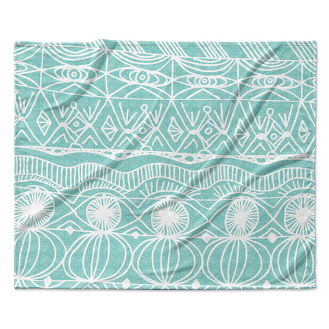 "Catherine Holcombe ""Beach Blanket Bingo"" Fleece Throw  Blanket - Outlet Item"