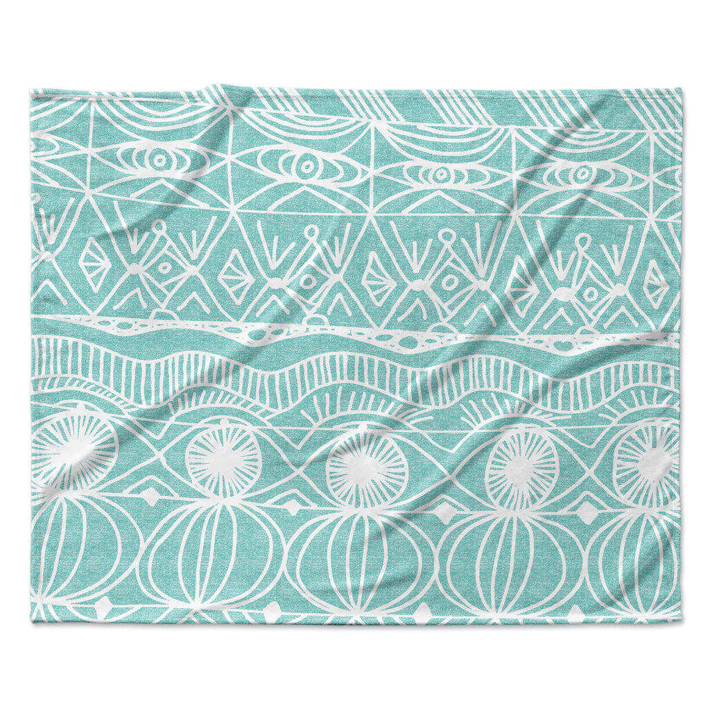 "Catherine Holcombe ""Beach Blanket Bingo"" Fleece Throw  Blanket"