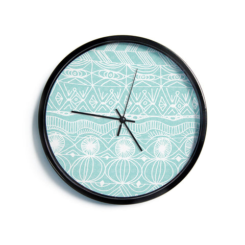 "Catherine Holcombe ""Beach Blanket Bingo""  Modern Wall Clock"