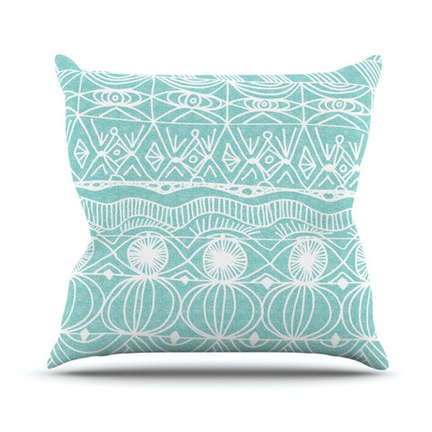 "Catherine Holcombe ""Beach Blanket Bingo"" Outdoor Throw Pillow - KESS InHouse  - 1"