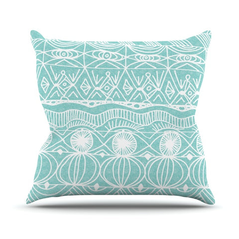 "Catherine Holcombe ""Beach Blanket Bingo"" Throw Pillow - KESS InHouse  - 1"