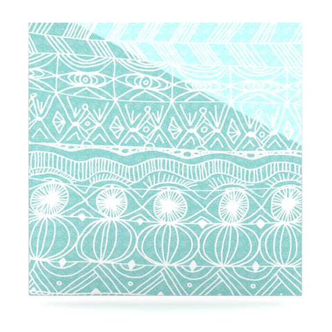 "Catherine Holcombe ""Beach Blanket Bingo"" Luxe Square Panel - KESS InHouse  - 1"