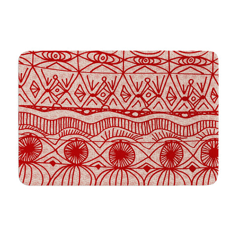 "Catherine Holcombe ""Cranberry and Cream"" Pattern Memory Foam Bath Mat - Outlet Item"