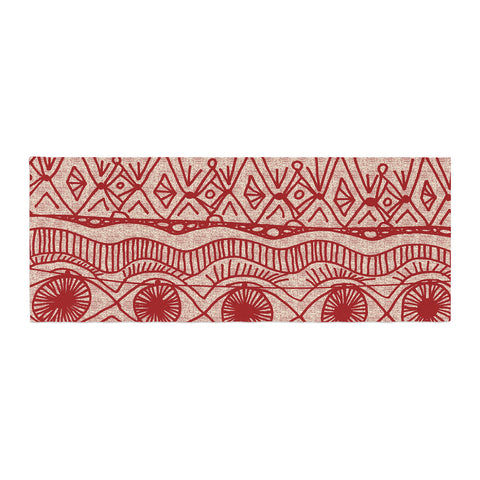 "Catherine Holcombe ""Cranberry and Cream"" Pattern Bed Runner - KESS InHouse"