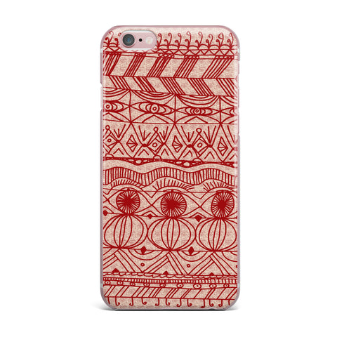 "Catherine Holcombe ""Cranberry and Cream"" Pattern iPhone Case - KESS InHouse"