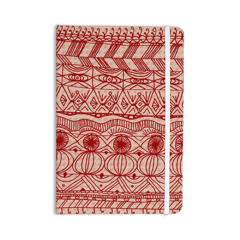 "Catherine Holcombe ""Cranberry and Cream"" Pattern Everything Notebook - KESS InHouse  - 1"