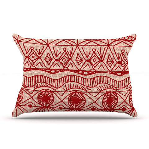 "Catherine Holcombe ""Cranberry and Cream"" Pattern Pillow Sham - KESS InHouse"