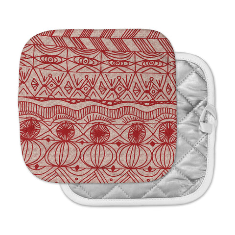 "Catherine Holcombe ""Cranberry and Cream"" Pattern Pot Holder"