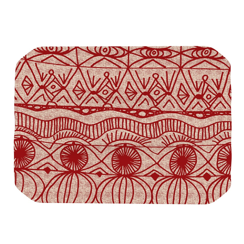"Catherine Holcombe ""Cranberry and Cream"" Pattern Place Mat - KESS InHouse"