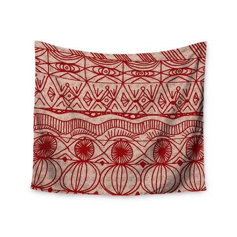 "Catherine Holcombe ""Cranberry and Cream"" Pattern Wall Tapestry - KESS InHouse"
