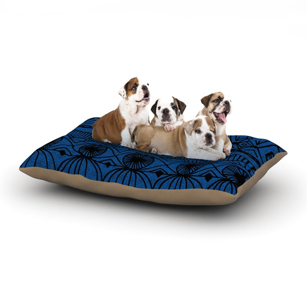 "Catherine Holcombe ""Black and Blue"" Pattern Dog Bed - KESS InHouse  - 1"