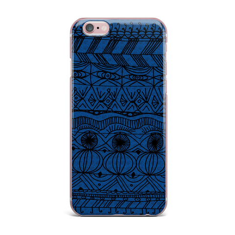 "Catherine Holcombe ""Black and Blue"" Pattern iPhone Case - KESS InHouse"