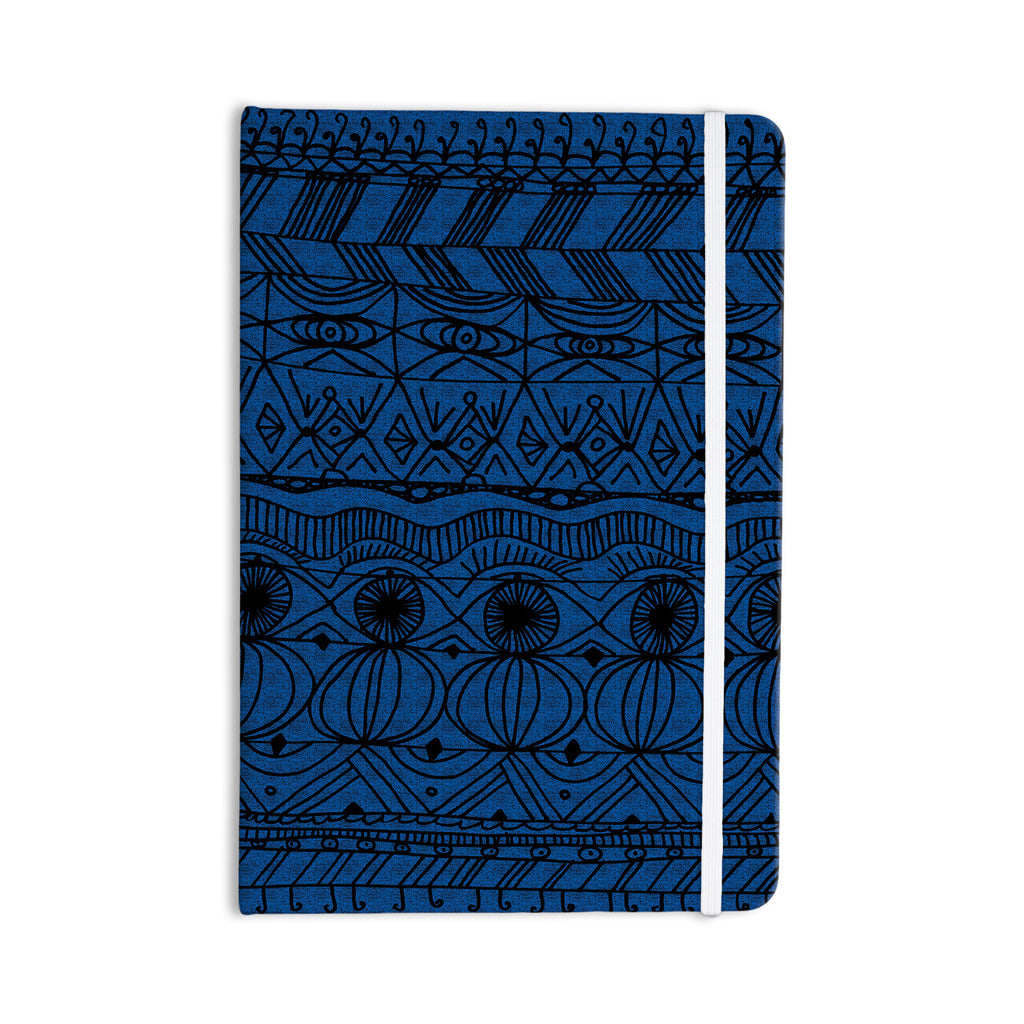 "Catherine Holcombe ""Black and Blue"" Pattern Everything Notebook - KESS InHouse  - 1"