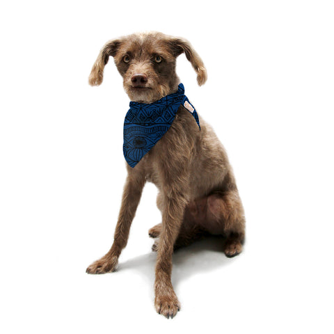 "Catherine Holcombe ""Black and Blue"" Pattern Pet Bandana - KESS InHouse  - 1"