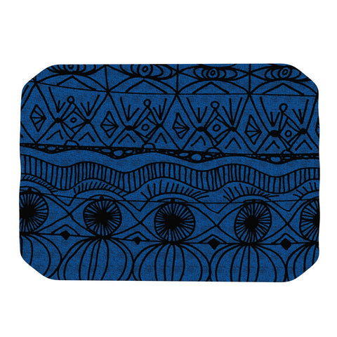 "Catherine Holcombe ""Black and Blue"" Pattern Place Mat - KESS InHouse"