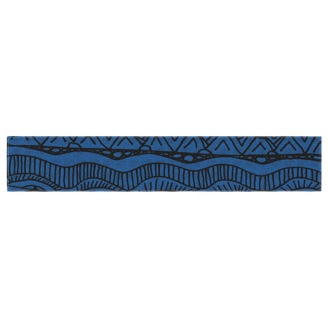 "Catherine Holcombe ""Black and Blue"" Pattern Table Runner - KESS InHouse  - 1"