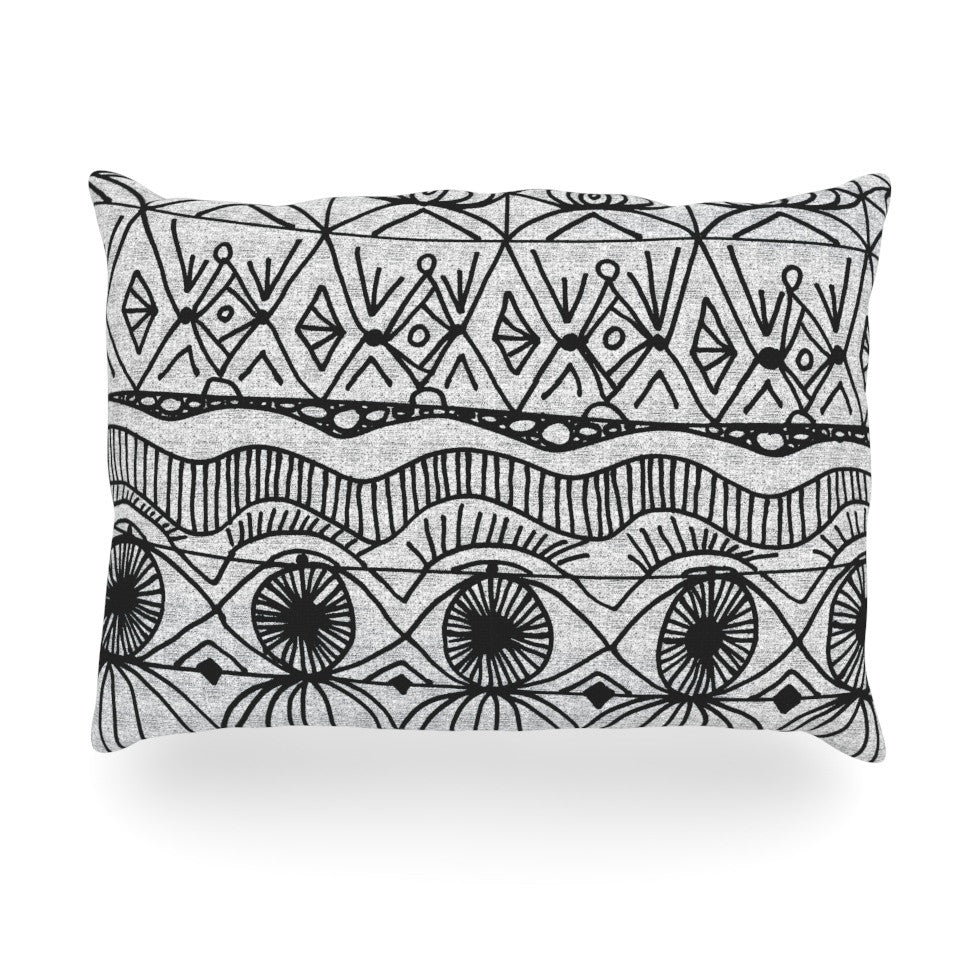 "Catherine Holcombe ""Blanket of Confusion"" Oblong Pillow - KESS InHouse"