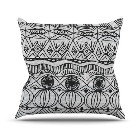 "Catherine Holcombe ""Blanket of Confusion"" Throw Pillow - KESS InHouse  - 1"