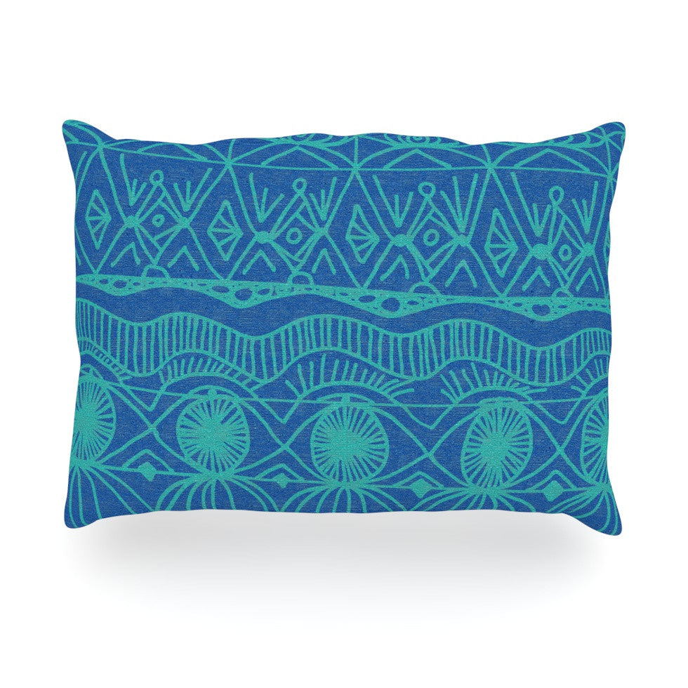 "Catherine Holcombe ""Beach Blanket Confusion"" Oblong Pillow - KESS InHouse"