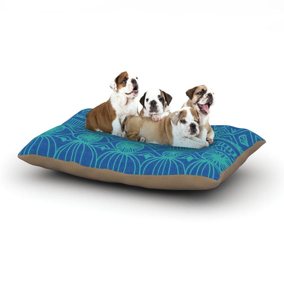 "Catherine Holcombe ""Beach Blanket Confusion"" Dog Bed - KESS InHouse  - 1"