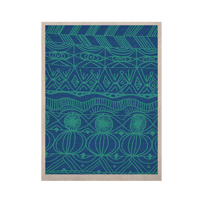 "Catherine Holcombe ""Beach Blanket Confusion"" KESS Naturals Canvas (Frame not Included) - KESS InHouse  - 1"