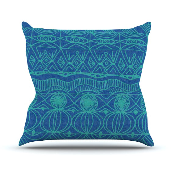 "Catherine Holcombe ""Beach Blanket Confusion"" Throw Pillow - KESS InHouse  - 1"