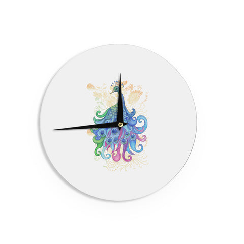 "Catherine Holcombe ""Peace"" Wall Clock - KESS InHouse"