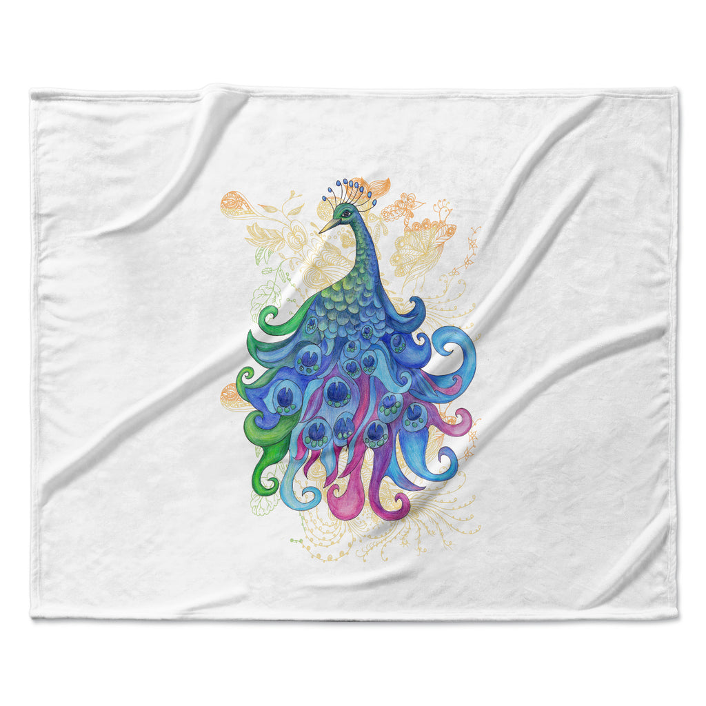 "Catherine Holcombe ""Peace"" Fleece Throw Blanket"