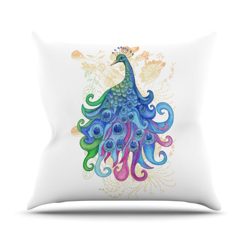 "Catherine Holcombe ""Peace"" Outdoor Throw Pillow - KESS InHouse  - 1"