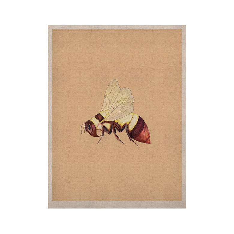 "Catherine Holcombe ""Bee Happy Beige"" KESS Naturals Canvas (Frame not Included) - KESS InHouse  - 1"