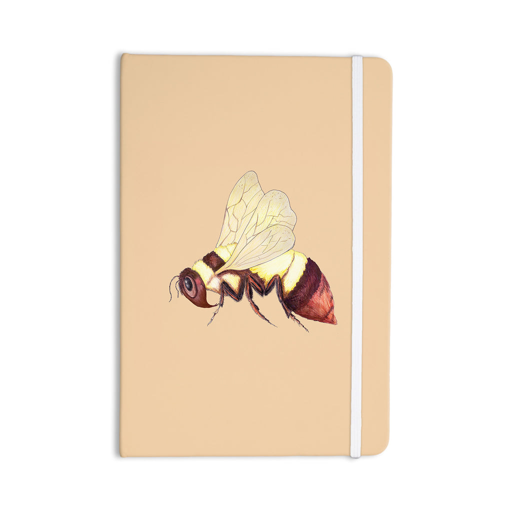 "Catherine Holcombe ""Bee Happy Beige"" Everything Notebook - KESS InHouse  - 1"