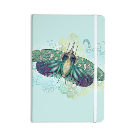 "Catherine Holcombe ""Blue Deco"" Teal Moth Everything Notebook - KESS InHouse  - 1"
