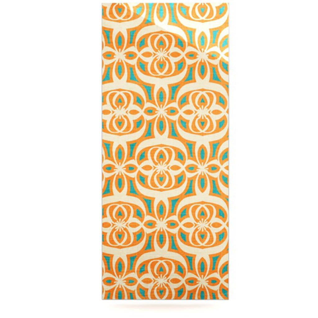 "Catherine McDonald ""Swan Lake Turquoise"" Teal Orange Luxe Rectangle Panel - KESS InHouse  - 1"