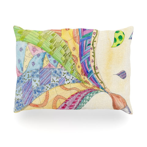 "Catherine Holcombe ""The Painted Quilt"" Oblong Pillow - KESS InHouse"