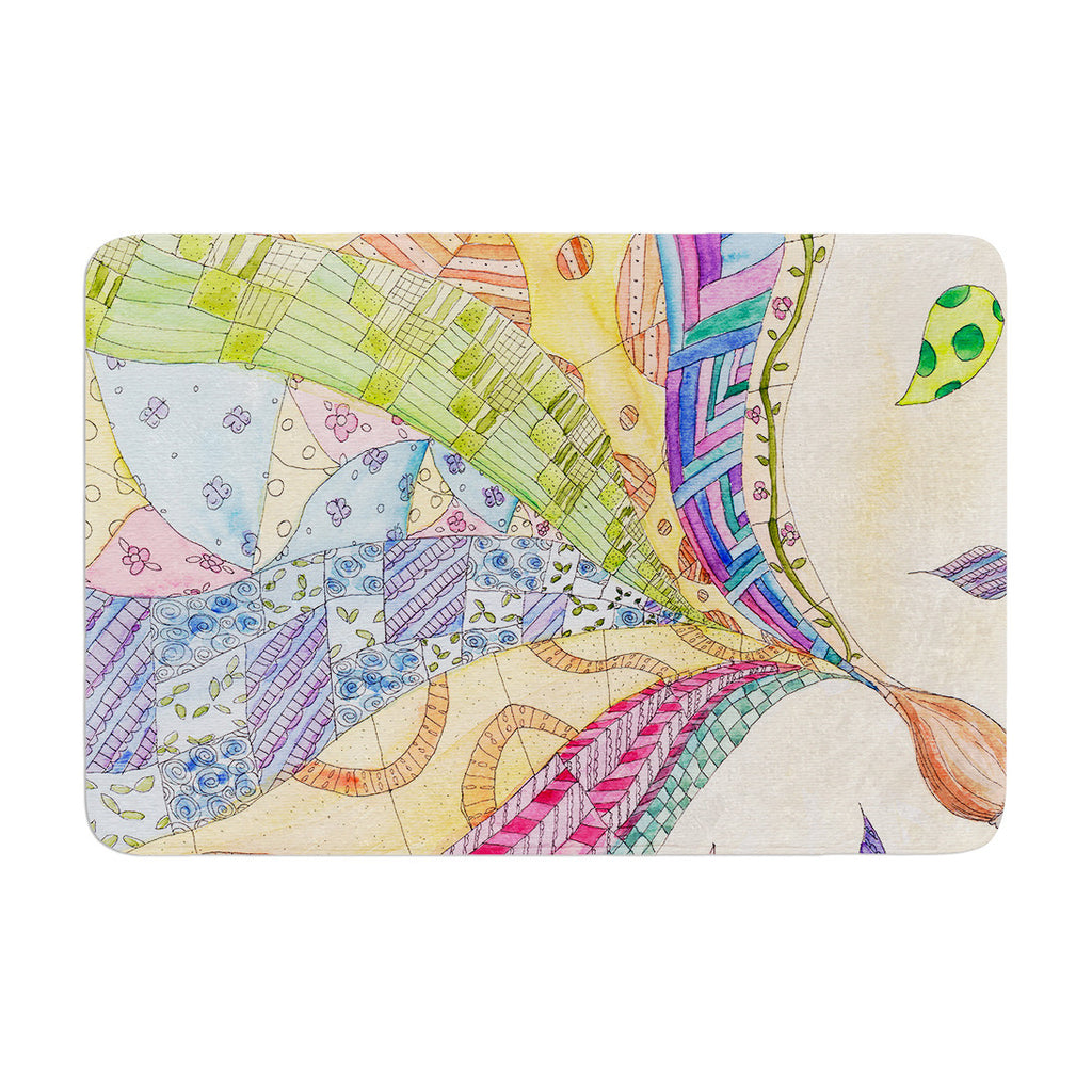 "Catherine Holcombe ""The Painted Quilt"" Memory Foam Bath Mat - KESS InHouse"