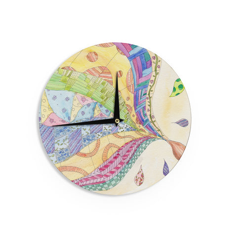"Catherine Holcombe ""The Painted Quilt"" Wall Clock - KESS InHouse"