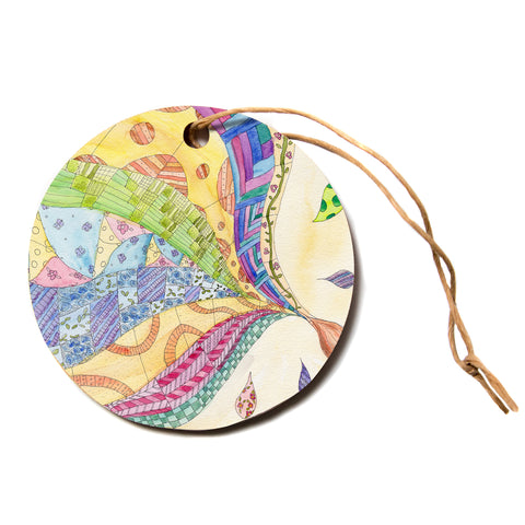 "Catherine Holcombe ""The Painted Quilt""  Circle Holiday Ornament"