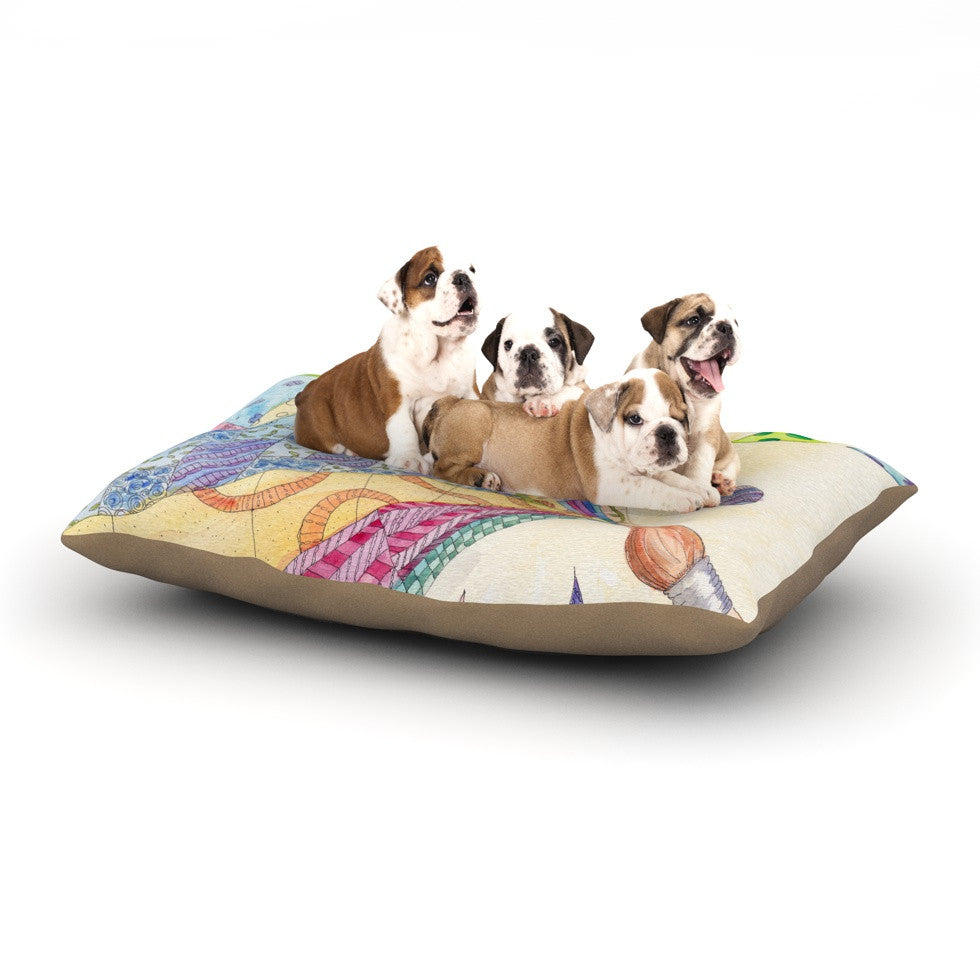 "Catherine Holcombe ""The Painted Quilt"" Dog Bed - KESS InHouse  - 1"