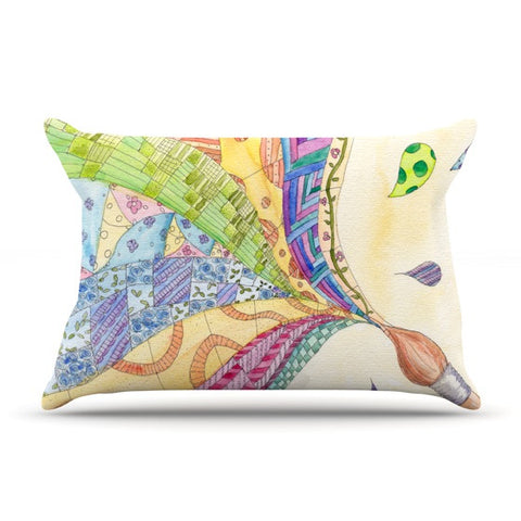 "Catherine Holcombe ""The Painted Quilt"" Pillow Sham - KESS InHouse"