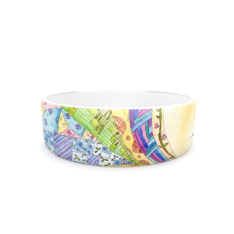 "Catherine Holcombe ""The Painted Quilt"" Pet Bowl - KESS InHouse"