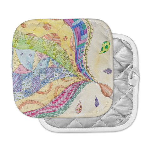 "Catherine Holcombe ""The Painted Quilt"" Pot Holder"