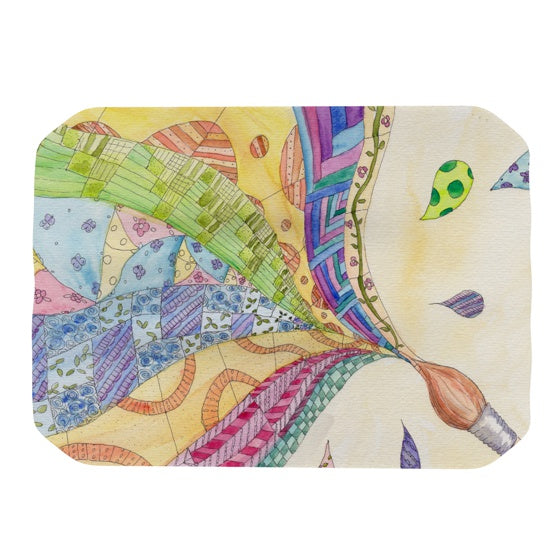 "Catherine Holcombe ""The Painted Quilt"" Place Mat - KESS InHouse"