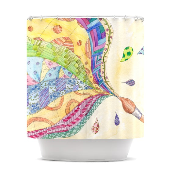 "Catherine Holcombe ""The Painted Quilt"" Shower Curtain - KESS InHouse"